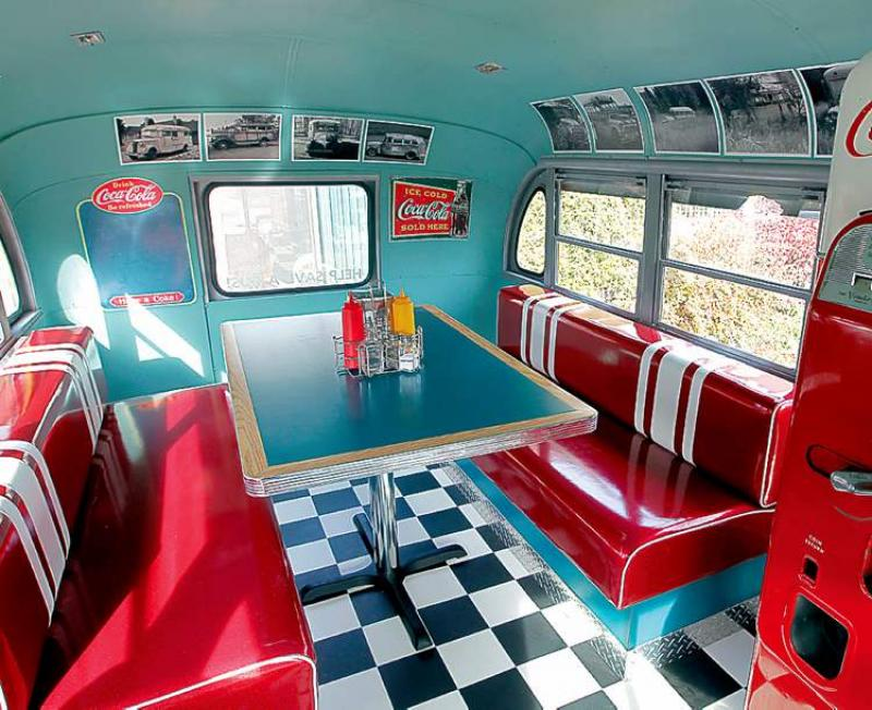 Cool 50s Diner Kitchen Decor Retro Table With Red Pictures