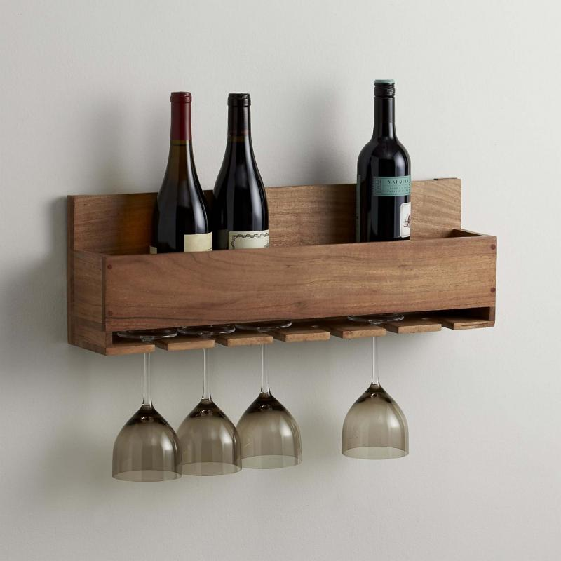 <p>Supplied</p><p>Crate & Barrel's Wine-Stem Rack</p>