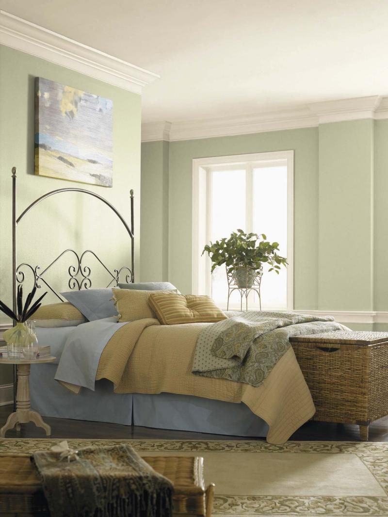 <p>PPG Paints</p><p>Layering fabrics on a bed is one way to incorporate more texture.</p>