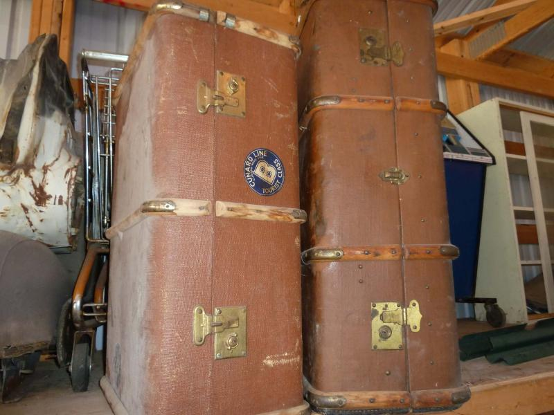 <p>These old shipping trunks really need to go. But finding a buyer for them? I guess that can wait.</p>