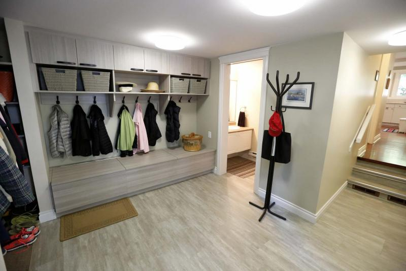 <p>Just off the kitchen is the laundry room which leads into a mudroom, two-piece bathroom and the garage. (Justin Samanski-Langille / Winnipeg Free Press)</p>