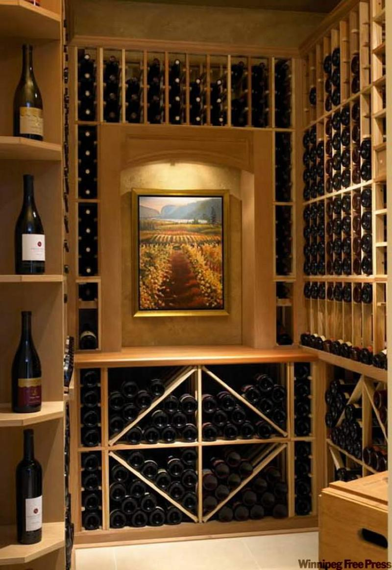 Wine cellar a cool idea winnipeg free press homes for Wine room ideas