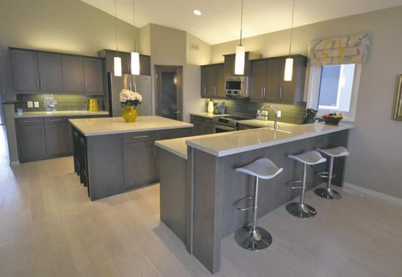 Timeless treasure winnipeg free press homes for Open concept kitchen with island
