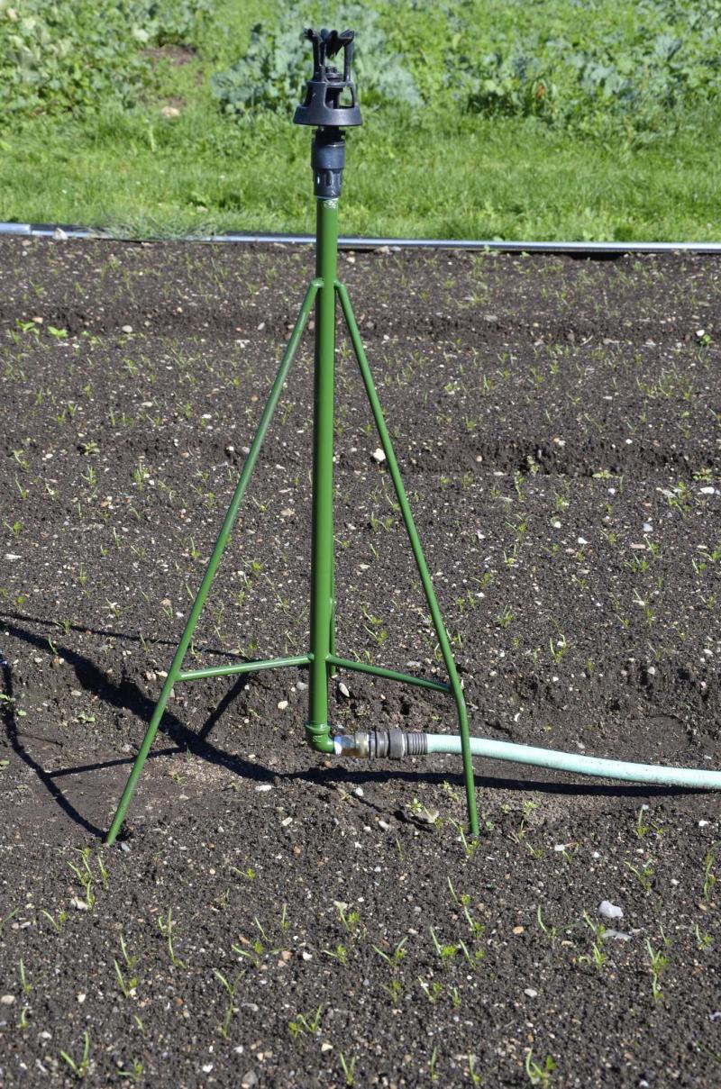 <p>Barbara Damrosch / The Washington Post</p><p>A Senninger Xcel-Wobbler sprinkler mounted on a tripod stand.</p>
