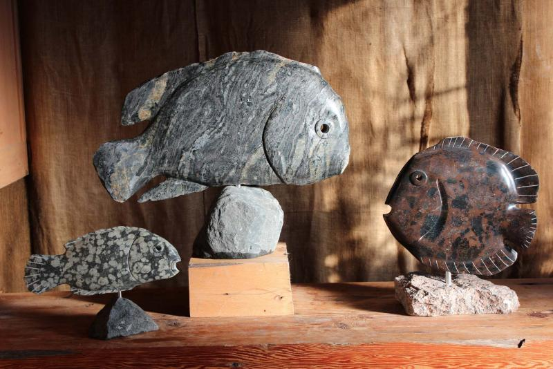 <p>Todd Braun </p><p>Todd Braun's artistry illustrates some of the complex geology that can be found in Manitoba.</p>