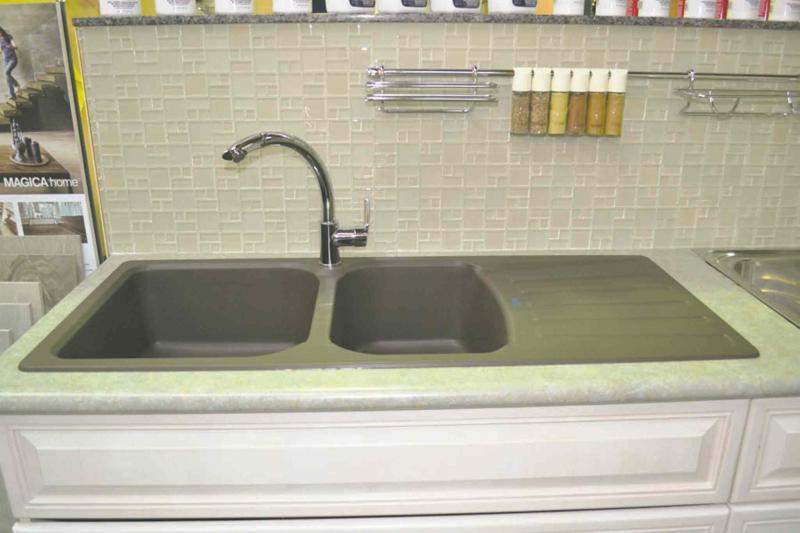 A Composite Granite Double Sink By Blanco Available From Wc Potts In Winnipeg For About 750 It Can Be Top Or Under Mounted