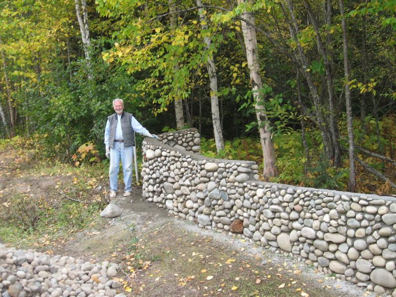 <p>Supplied</p><p>Bob Shepard started building stone walls and fences for fun in his late 60s.</p>