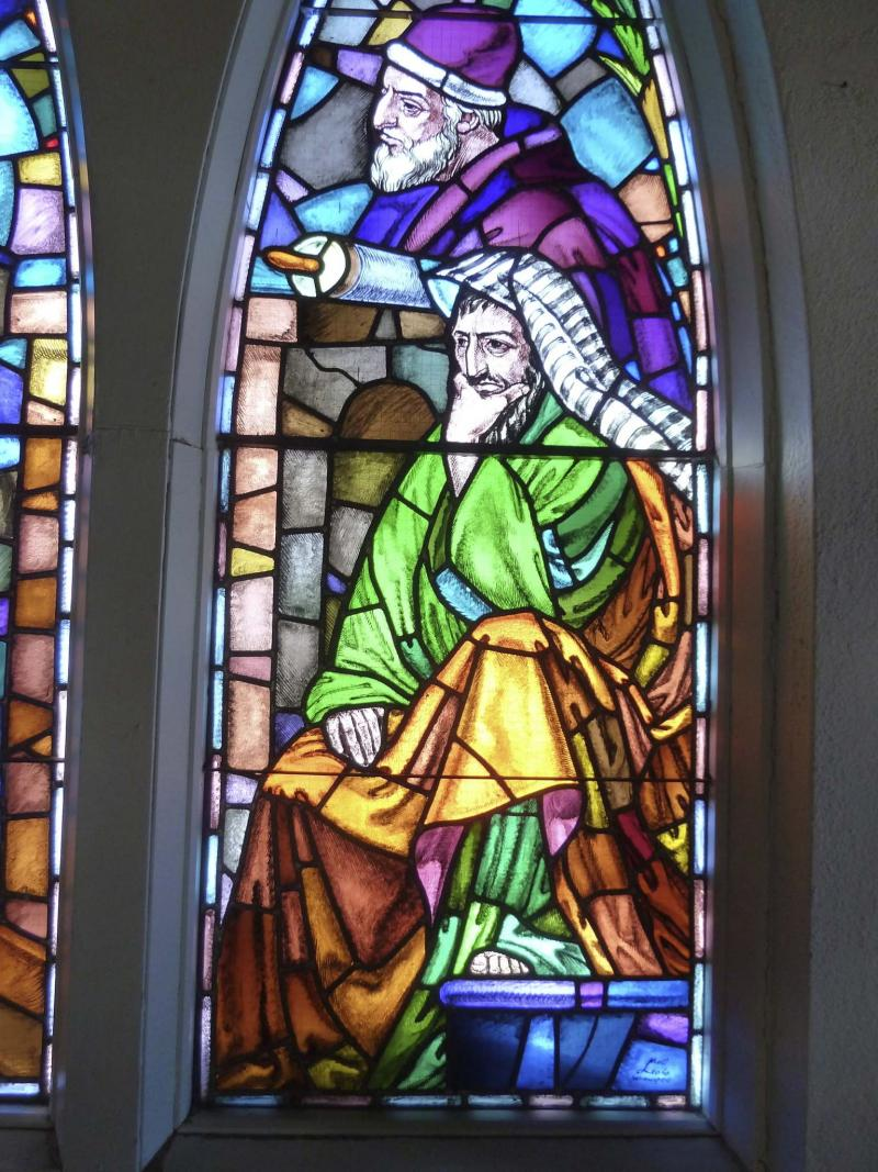 <p>Photos by Laurie Mustard / Winnipeg Free Press</p><p>The stained glass window, which overlooks the congregation, was created and twice signed by legendary Winnipeg artist Leo Mol.</p>