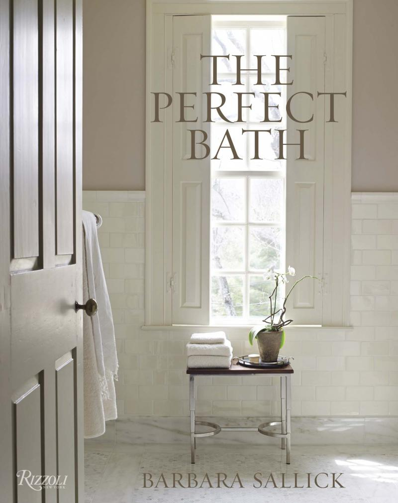 <p>RIZZOLI</p><p>Barbara Sallick's new book, The Perfect Bath, features one of her most beloved baths — her own 18th-century style Connecticut home's hall bathroom. </p>