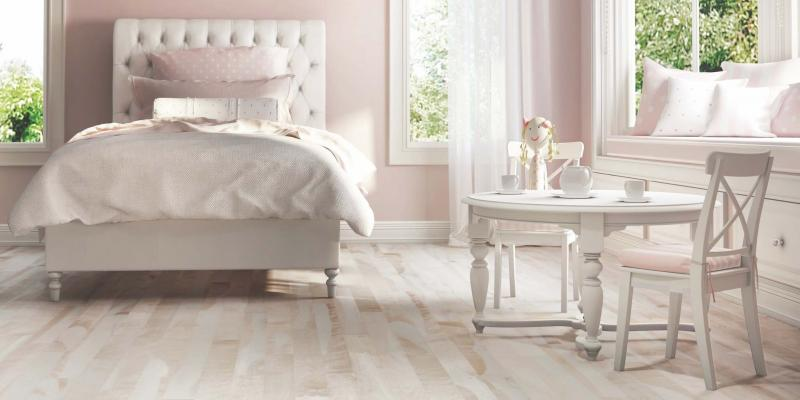 <p>Lauzon Flooring</p><p>Use soft pink to create a sophisticated retreat.</p>