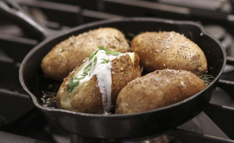 <p>ADRIAN LAM / TIMES COLONIST</p><p>Store potatoes in a cool dry place, then bake them in a piping hot oven.</p></p>