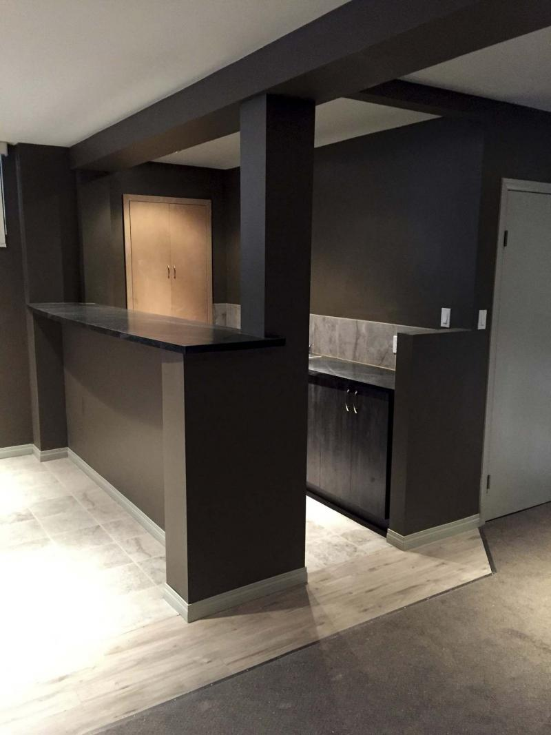 A man cave is completed winnipeg free press homes - Renovation cave ...