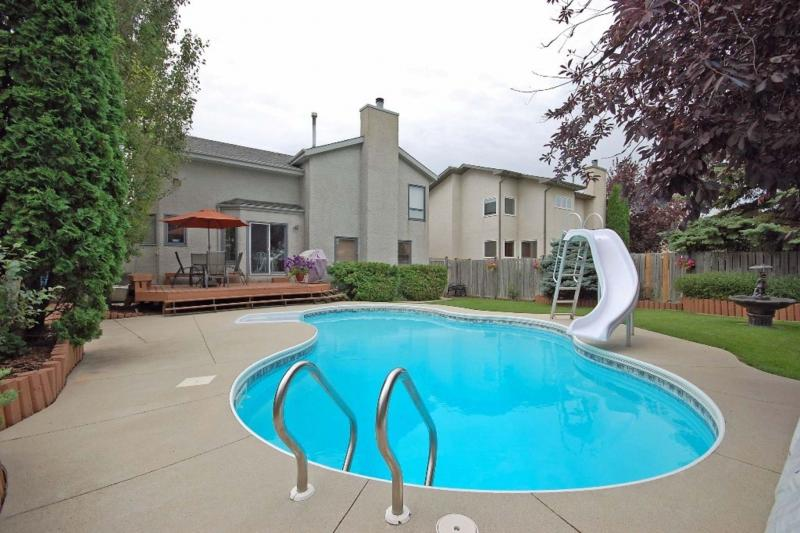 <p>Supplied</p><p>The backyard of 68 Surfside Cres. is a sanctuary, with a beautiful in-ground pool, deck and gorgeous landscaping.</p></p>
