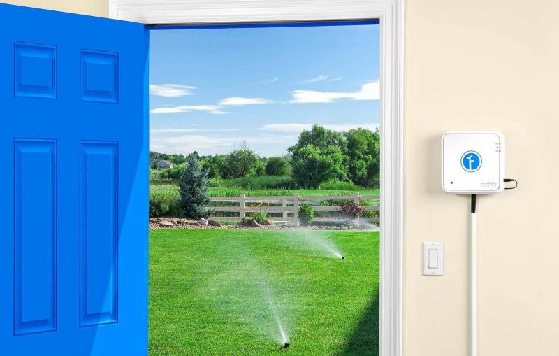 <p>Rachio</p><p>Intsalling the Rachio Smart Home sprinkler system is simple and it easily links to your existing Wi-Fi network.</p></p></p>