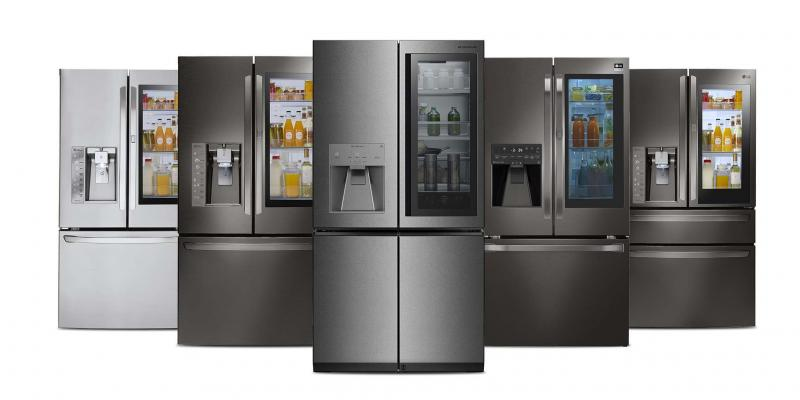 <p>Supplied </p><p>LG's Smart InstaView frige allows you to look inside simply by knocking twice on its 29-inch touch-screen display — a camera inside the device will show you what you've got on hand.</p>