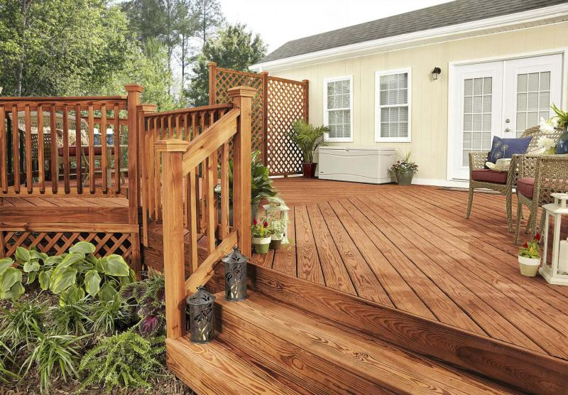 <p>The Associated Press files</p><p>A nice stain can make an old deck look like new.</p>
