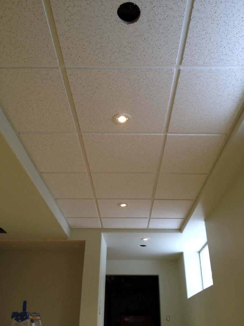 <p>Photos by Marc LaBossiere</p><p>When closing in a ceiling is not an option, the suspended ceiling is a clean and attractive alternative that allows you access to services above the tiles. </p></p>