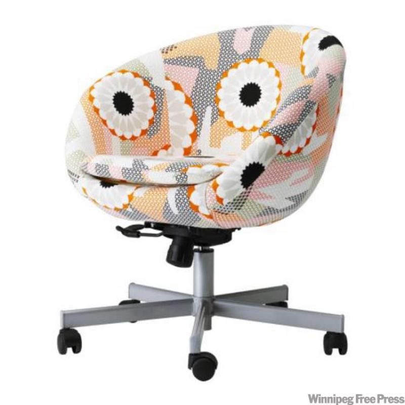forget the dorm desk chair and opt for a cute skruvsta swivel chair in