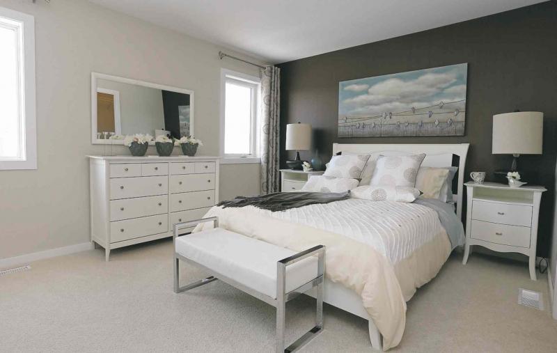 Homes. 148 Cherrywood Road in Bridgwater Trails. The master bedroom. Kensington Homes� sales rep is Heather Daniels.  Todd Lewys story Wayne Glowacki / Winnipeg Free Press Jan. 4 2016