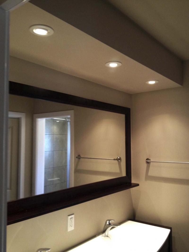 Recessed bathroom ceiling lights