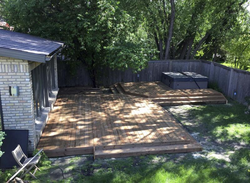 <p>Marc LaBossiere / Winnipeg Free Press</p><p>A view of Daniela Wightman's completed deck.</p></p>