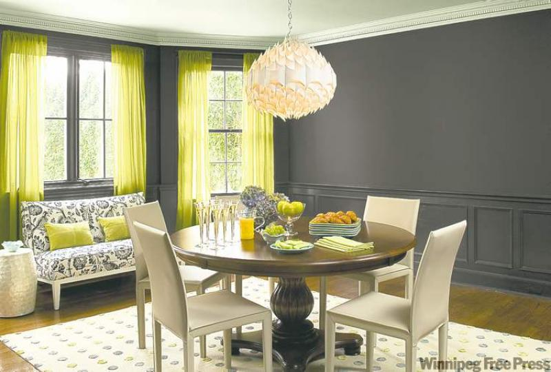 Black walls in dining room a bold move winnipeg free - Black walls in dining room ...