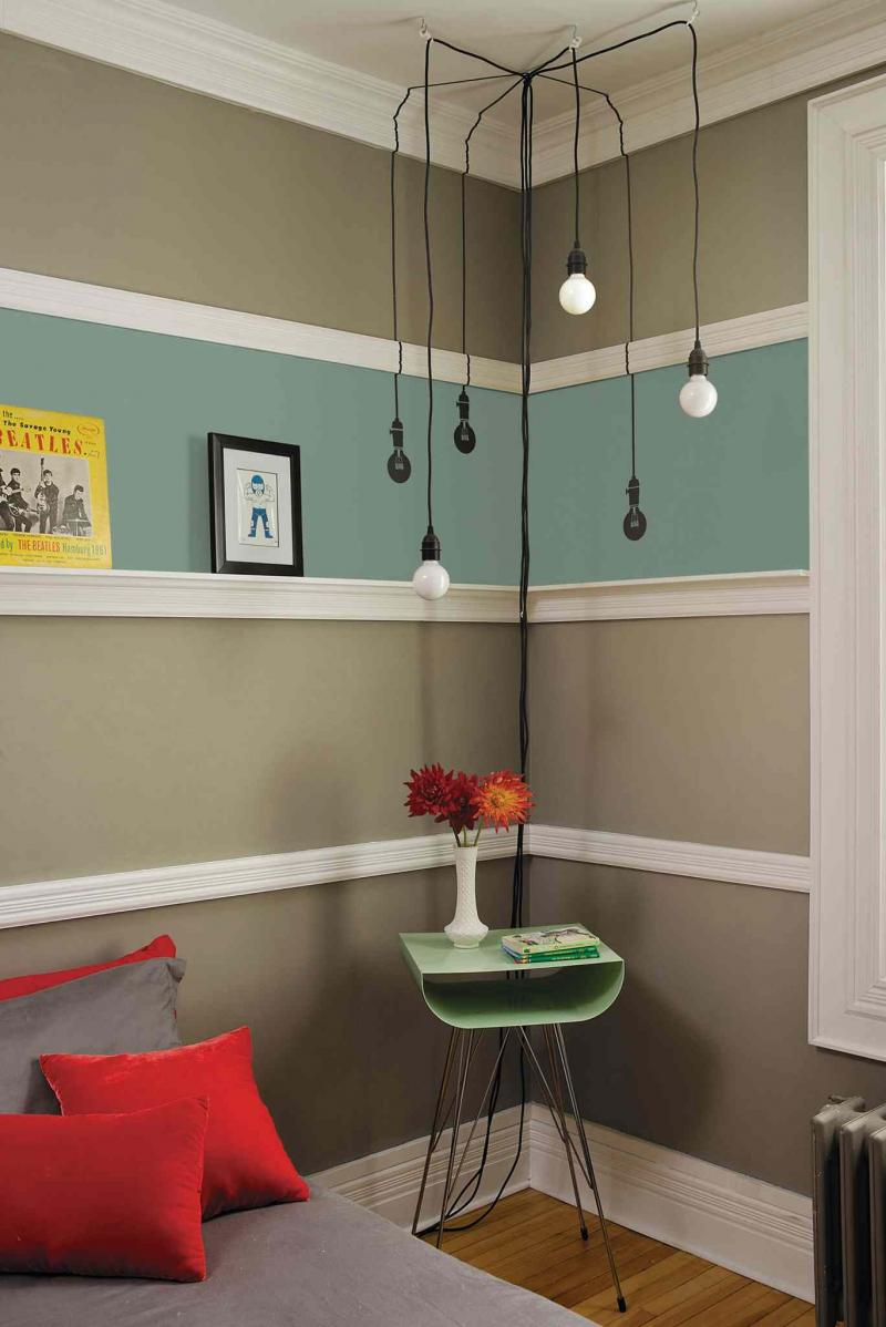Even a small amount of paint can be used to spruce up a room.