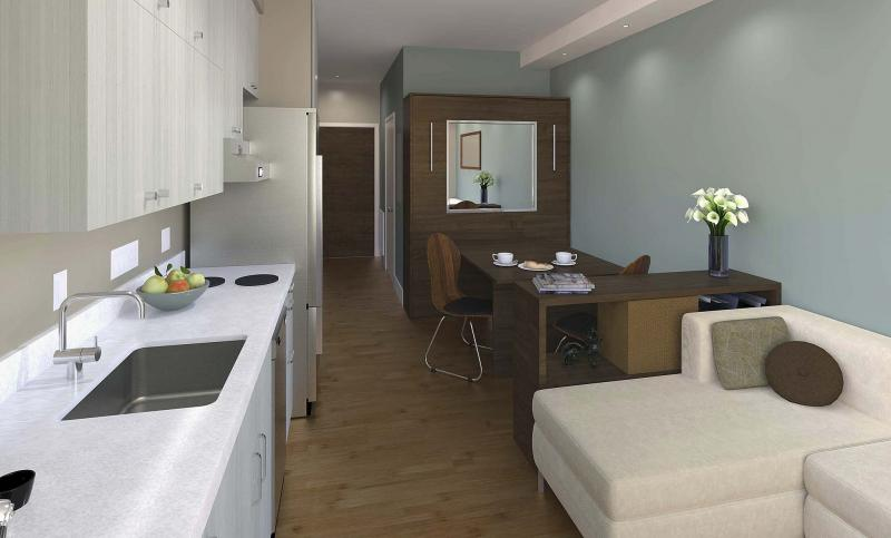 <p>Smartspace / Los Angeles Times</p><p>This artist rendering of an affordable 300-square-foot condo in San Francisco may soon become reality here in Canada.</p></p>
