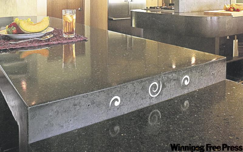 Concrete Countertop Edge Designs : (uses unusual shapes and whimsical touches in his countertop designs ...