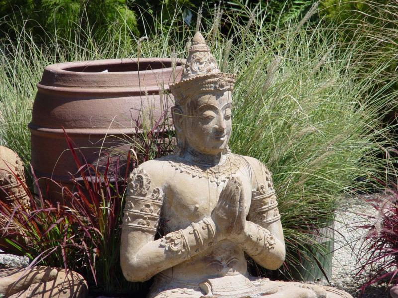 <p>Photos by Maureen Gilmer / Tribune Media</p><p>A garden shrine can be created very simply and designed to suit the user and available space. </p>