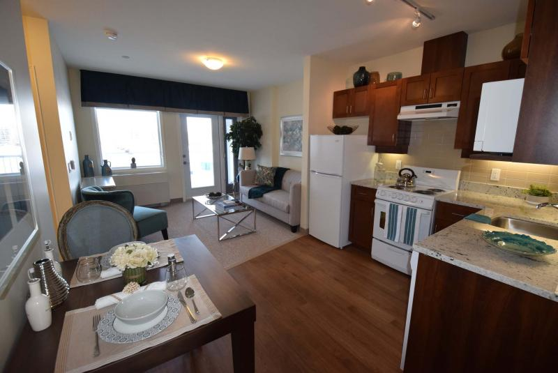 <p>SUPPLIED</p><p>The apartments are bright, spacious and feature full kitchens and in-suite laundry.</p>