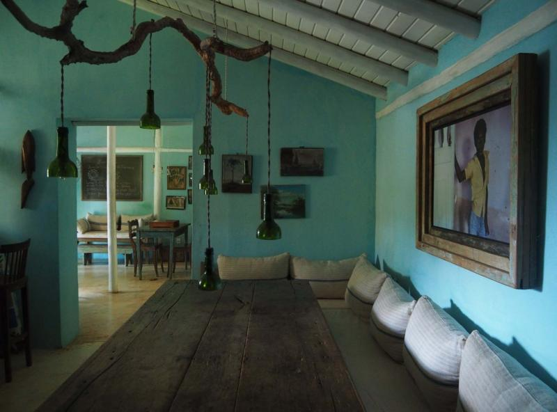 <p>Vern Yip / The Washington Post</p><p>Turquoise coloured walls, reminiscent of the water colour, sets the perfect tone to showcase work from a wide range of Brazilian artisans at the UXUA Casa Hotel in Trancoso. </p>