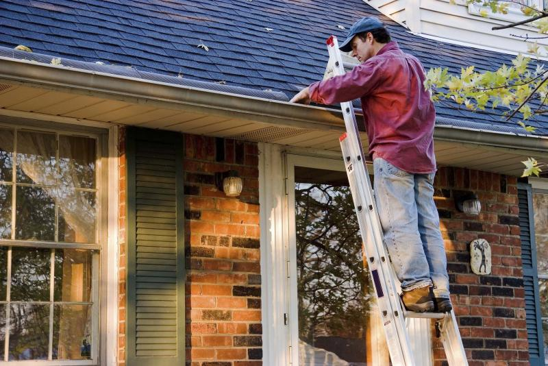 <p>It is possible to reuse old gutters when replacing the fascia boards, but the cost of the repair would likely be the same as just getting new gutters.</p>
