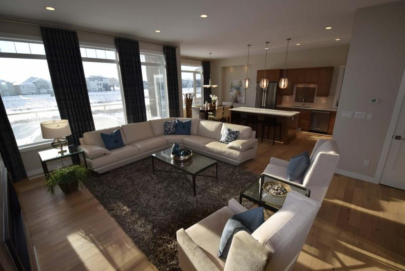 <p>Photos by Todd Lewys / Winnipeg Free Press</p><p>The home's rear wall is covered in picture windows to let in as much light as possible.</p>