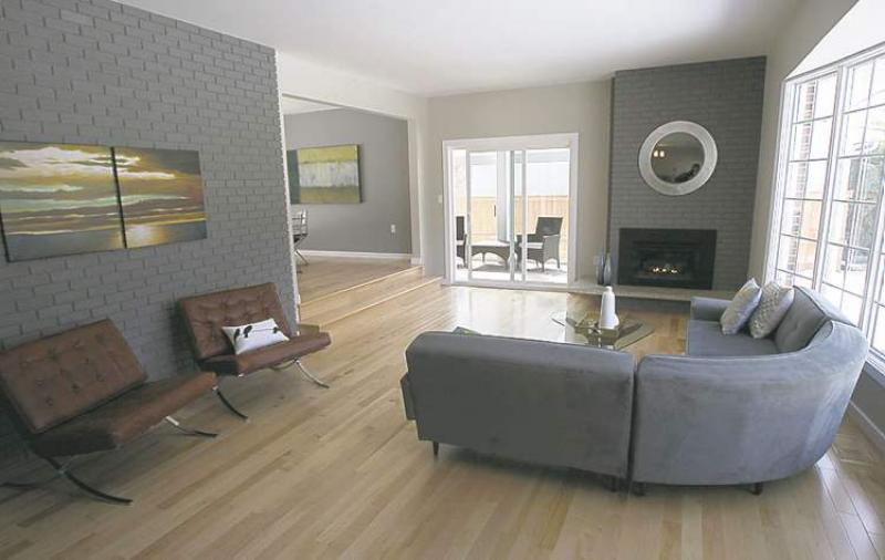 Great Grey Feature Wall With Wood Floor | Lounge | Pinterest | Hardwood Floor  Colors, Grey Feature Wall And Walls Part 15