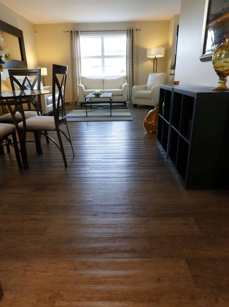 <p>WAYNE GLOWACKI / WINNIPEG FREE PRESS</p><p>Vinyl plank flooring covers the living and dining areas.</p>