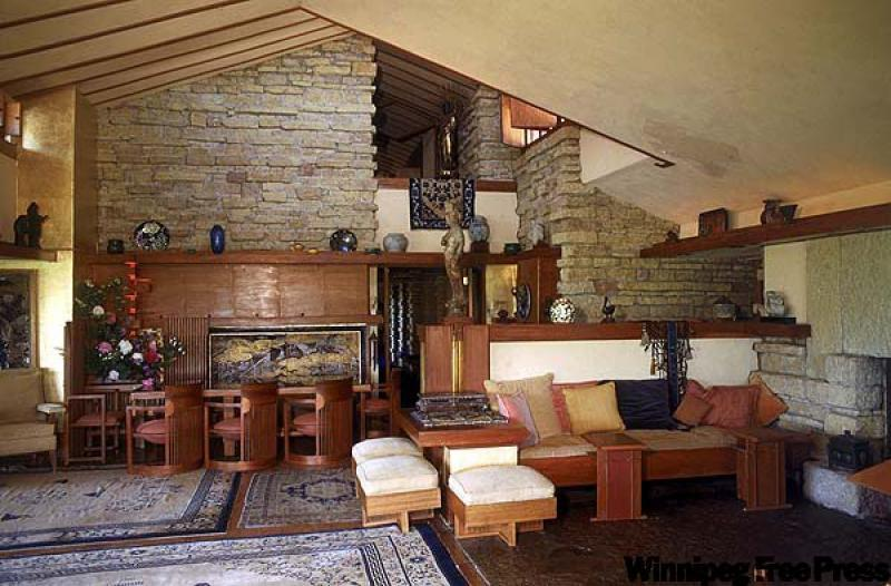Taliesin showcases  organic  architectureTaliesin Spring Green Wi Interior