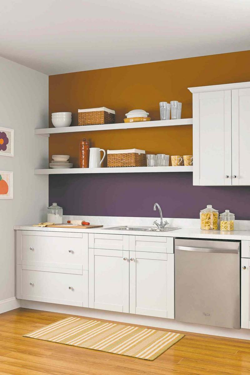 Today's modern kitchens often includes open shelving.