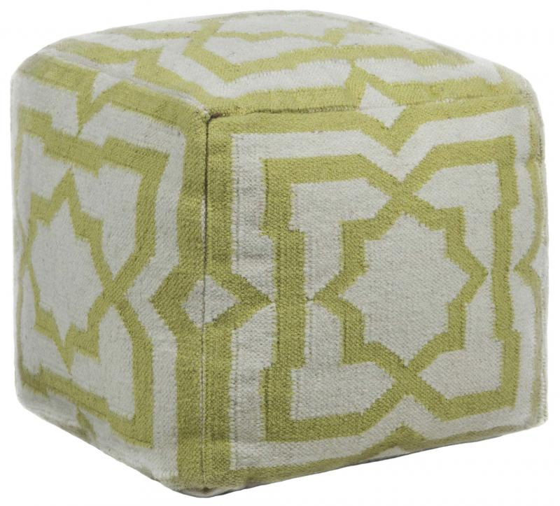 <p>Burke Décor</p><p>Keep guests guessing by splashing Greenery in your home with the Hand-Knitted Pouf by Chandra.</p>
