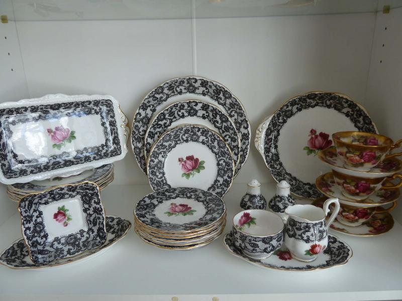 <p>Supplied</p><p>A set of Royal Albert Senorita Black Lace china. A piece from this set could sell for as much as $300.</p>
