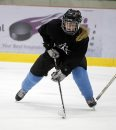 SPORTS - Action of 17-year-old forward Cassandra Jorgenson at practice of Winnipeg Avros female AAA midget hockey team during practice. The team is one of two Winnipeg teams to join Manitoba's first ever AAA midget hockey league for female players which has started for players aged 15-17 in Manitoba. Manitoba is the last Western province to have a designated AAA level for players this age. Oct. 5, 2011 (BORIS MINKEVICH / WINNIPEG FREE PRESS)