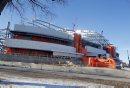 Construction photos of the new football stadium at the University of Manitoba.  Story by Murray McNeill  February 7, 2012 BORIS MINKEVICH / WINNIPEG FREE PRESS