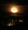 Moon rises ...