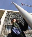 The Greek flag ...