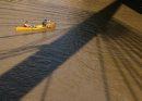 Two canoeists ...