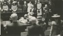 Winnipeg Free Press Archives King George VI and Queen Elizabeth in the Manitoba Legislative Chamber. High Moments in Royal Visit for Winnipeggers Queen signs visitor`s book at Legislature Building. fparchive May 25 1939.