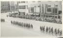 Winnipeg Free Press Archives Wartime Winnipeg (05) May 23, 1944 Army Day Parade Army Day Parade on street car streetcar rails, Main Street heading north from Portage Avenue. fparchive