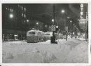 Jack Ablett/Winnipeg Free Press Archives Winnipeg Blizzard (21) March 15, 1966 Portage Avenue & Donald- Electric trolley buses sit idle. midnight fparchive
