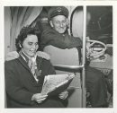 Jack Ablett/Winnipeg Free Press Archives Winnipeg Blizzard (24) March 5, 1966 Bus passengers & and driver on bus all day and night Storm fparchive