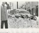 Bill Rose/Winnipeg Free Press Archives Winnipeg Blizzard (29) 1966 (undated) Motorist's car plowed under on Osborne Street fparchive